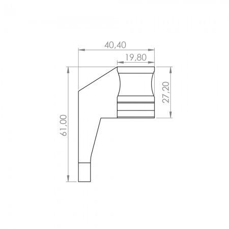 Cremalheira de nylon de 1m para portão de correr - CRM5 (MOTORLINE ACESSÓRIOS)