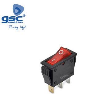 001105502 - 5u saco SPST ON / OFF interruptor com luz 16 (4) A-16A 8433373055025