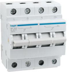 01 - SF263 - 3250615561008 Inversor 2P 63A c/ponto zero 4M HAGER