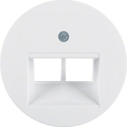 14092089 - R.x - espelho RJ45 duplo, branco BERKER EAN:4011334367000
