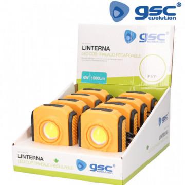 201815002 - Lanterna de trabalho LED COB 6W regarregável
