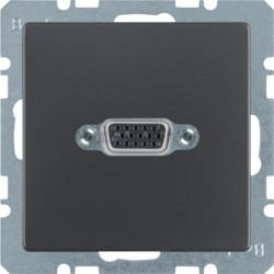 3315416086 - Q.x - tomada VGA paraf., antracite BERKER EAN:4011334379799