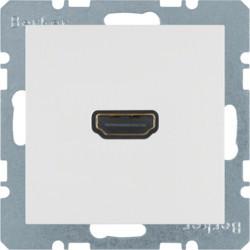 3315421909 - S.1/B.x - tomada HDMI, branco mate BERKER EAN:4011334330509