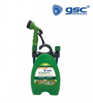 """403010001 - Kit de mangueira trançada de PVC 10M Ø1 / 2 """"(12 mm) para pendurar na parede"""