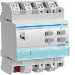 41 - TYA624C - 3250616059665 Actuador est./pers. 4 canais 230V KNX-S HAGER