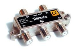 "4531 -8424450045312 TELEVES - Repartidor Interior (5-1000MHz) 4D ""F"" 8dB"