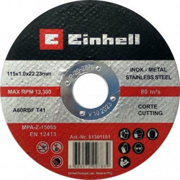 61301151 - DISCO CORTE INOX 115X1X22,23MM EINHELL