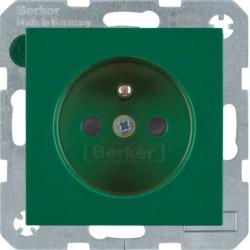 6765768963 - S.1/B.x - tomada FR obturad., verde BERKER EAN:4011334280330