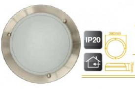 701938 - 8433373019386 Luz de parede em alumínio redondo E27 20W (60W)