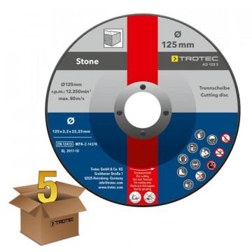 Disco de Rebarbar para Pedra AD 125 S - Pacote com 5 unidades
