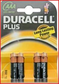 9000111 - 5000394018457 Pilha alcalina DURACEL Plus LR03 (AAA), Blister 4