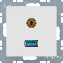 BERKER - 3315391909 - S.1/B.x - USB / jack 3.5mm, branco mate 23