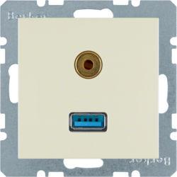 BERKER - 3315398982 - S.1/B.x - USB / jack 3.5mm, creme 23