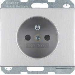 BERKER - 6765757003 - K.1/K.5 - tomada FR obturad., alumínio 23