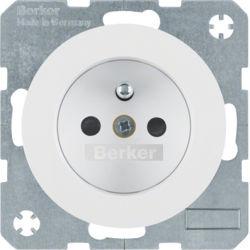 BERKER - 6765762089 - R.1/R.3 - tomada FR obturad., branco 23