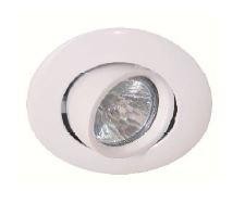 DOWNLIGHT Circular branco 12V 50W s/ Lâmpada