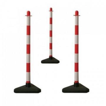 Equipamentos de Protecção - 6055 - Poste Plast. Sinal.Branco /Vermelho 90cm 4cm