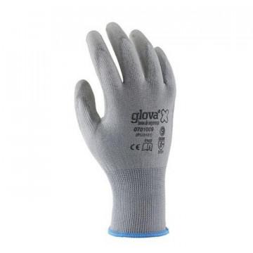 Equipamentos de Protecção - 6091 - Luva Nylon Recoberta Poliuretano Cinza T:M