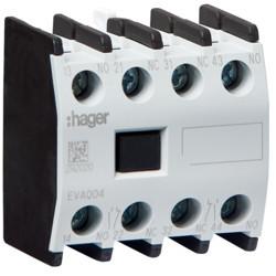 EVA004 - Contacto Aux. ligação frontal 2NA+2NF HAGER EAN:3250612232024