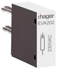 EVA202 - Supressor para 230 V para tamanho 2 HAGER EAN:3250612232123