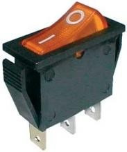 Interruptor simples Luminoso ON-OFF 250V/15A - Laranja