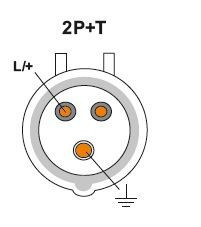 JSL - Tomada Industrial de colocação saliente em parede 32A 2P+T(E) IP44