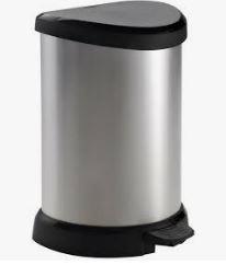 KETER CURVER 220959 Cubo IML Metalizado fecho pedal 20L P(cm)30,3 A(cm)44,8 L(cm)26,8