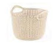 KETER CURVER 230003 Cesta Knit Redonda XS ~3L branco Oasis P(cm)20,2 A(cm)15,7 L(cm)19,6