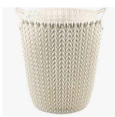 KETER CURVER 230093 Cesto Papeis Knit branco Oasis (7L) P(cm)23,9 A(cm)27,2 L(cm)23,1