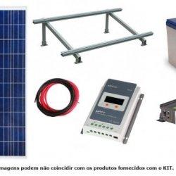 Kit Solar Fotovoltaico 265W c/ bateria gel 12V/35Ah