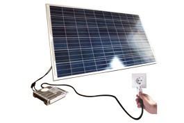 Kits Autoconsumo fotovoltaicos entre 320W e 1920W _ estrutura Telhado plano