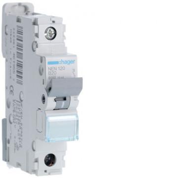 NEN120 - Disjuntor 1P 20A B 6/10kA 1M HAGER EAN:3250614619557