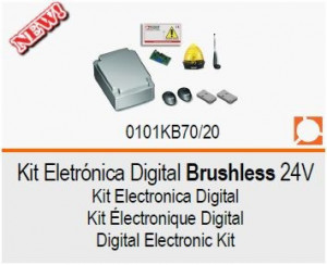 ROGER Kit Eletrónica Digital Brushless 24V KB70/20