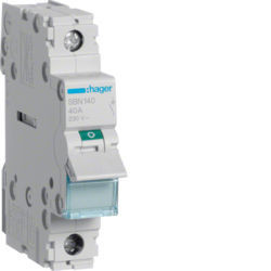 SBN140 - Interruptor Modular 1P 40A HAGER EAN:3250615510167