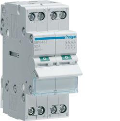 SBN432 - Interruptor Modular 4P 32A HAGER EAN:3250615510150