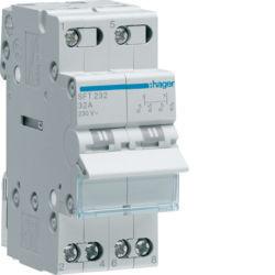 SFT232 - Inversor Modular c/ponto zero, 2P 32A HAGER EAN:3250615510020