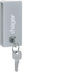 VZ311PVB - Fechadura c/chave 405 p/vega opaca HAGER EAN:3250611025764