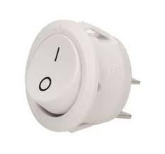 W1.11/BIAŁY ORNO - Interruptor Redondo (botão) Branco