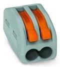 WAGO - Ligador compacto | até 0 4mm' | laranja / cinzento | 2 condutores { ref. 222-412