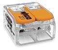WAGO - Ligador compacto | até 0 6mm' | laranja I transparente | 2 condutores | ref. 221-612 NOVIDADE
