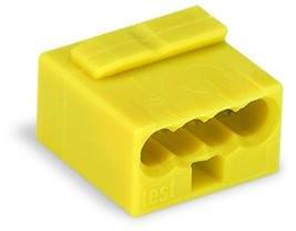 WAGO - Ligador MICRO PUSH WIRE { B 0,6-0,8mm' | amarelo | 4 condutores | ref. 243-504