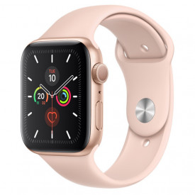 Watch Apple Watch Series 5 GPS 44mm Gold Aluminum Case with Sport Band - Pink Sand EU