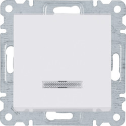 WL0220 - lumina 2 Comut. escada c/sinaliz, branco HAGER EAN:8694407000330