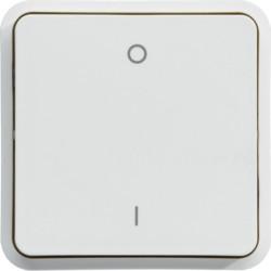 WNA008B - cubyko - Interruptor bipolar 0/1, branco HAGER EAN:3250617175081