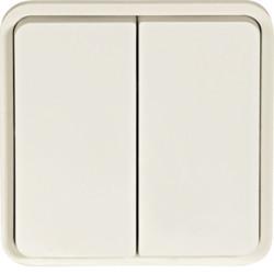 WNA044B - cubyko - Botão inversor duplo, branco HAGER EAN:3250617175449