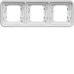 WNA403B - cubyko - Quadro x3 horizontal, branco HAGER EAN:3250617175432