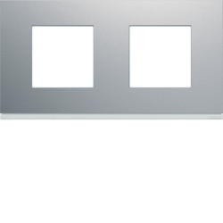 WXP0112 - gallery 2x2M Quadro x2 horiz., alumínio HAGER EAN:3250617199254