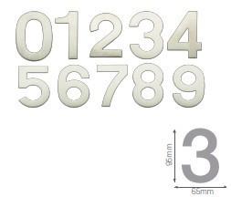 003302611 - 8433373026117 Número porta 1 acero inoxidável com adesivo