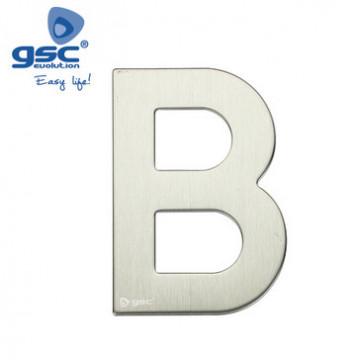 003302621 - Letra da porta B em aço inoxidável com adesivo 8433373026216