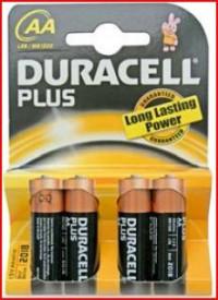 009000112 - 5000394017641 Pilha alcalina DURACEL Plus LR6 (AA), Blister 4